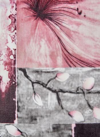 Foulard léger à imprimé floral, Rose, hi-res