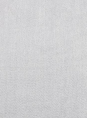 Foulard brillant à franges façon étole, Argent, hi-res