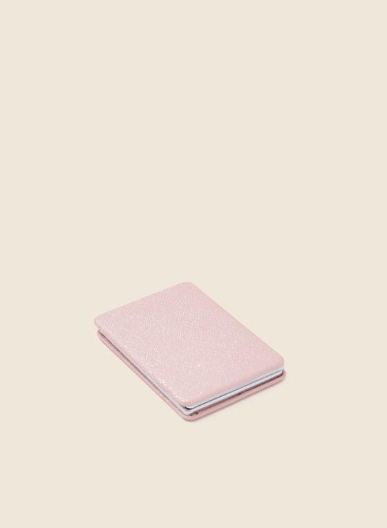 Rectangular Compact Mirror, Pink