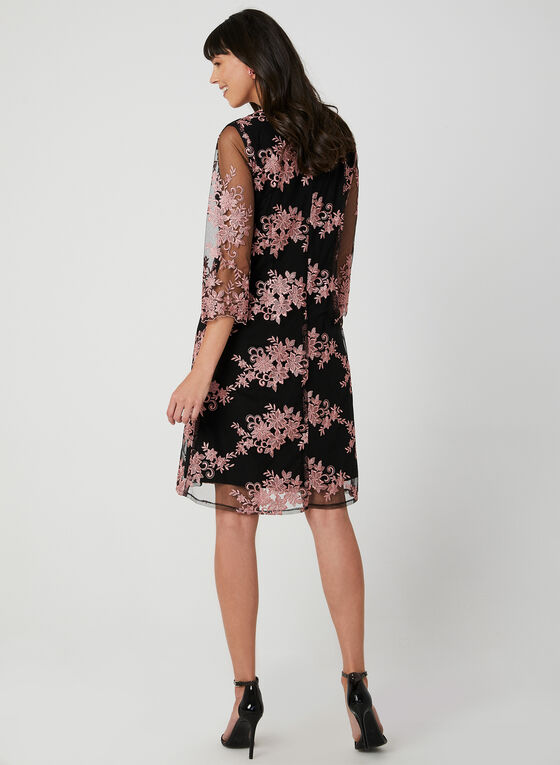 Alex Evenings - Jersey Dress With Embroidered Jacket, Black