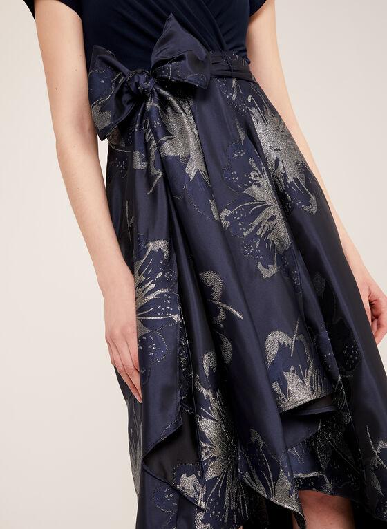 High-Low Belted Dress, Blue, hi-res