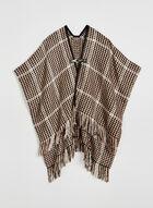 Vince Camuto - Poncho en tricot à franges , Brun, hi-res