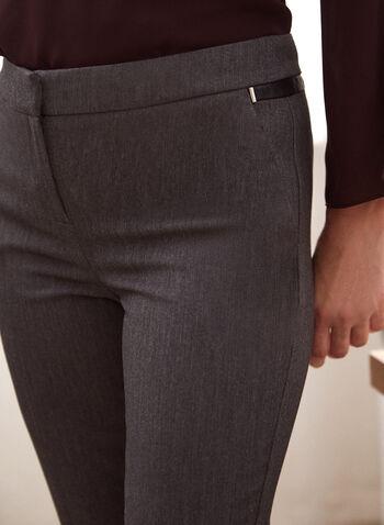 Pantalon coupe cité à jambe droite, Gris,  pantalon, cité, jambe droite, pinces, poches, automne hiver 2020