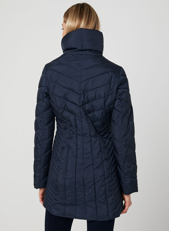 Anne Klein - Quilted Coat, Blue