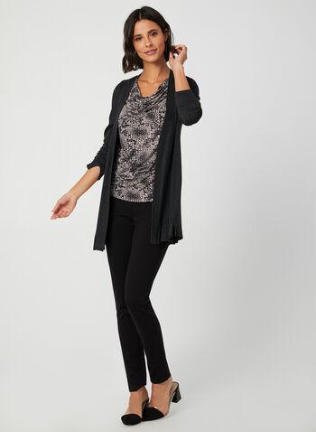 Snakeskin Print Sleeveless Top, Black, hi-res,  Snakeskin blouse