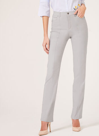 Simon Chang - Signature Fit Straight Leg Pants, Grey, hi-res