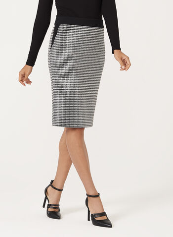Houndstooth Pencil Skirt, , hi-res