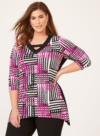 Abstract Print Jersey Tunic, Multi, hi-res