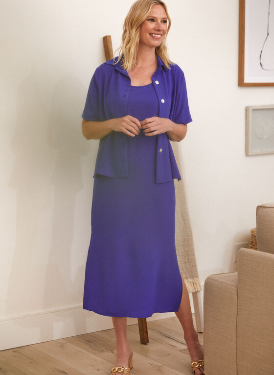 Maxi Dress & Blouse, Blue