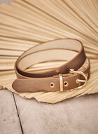 Horseshoe Buckle Belt, Beige