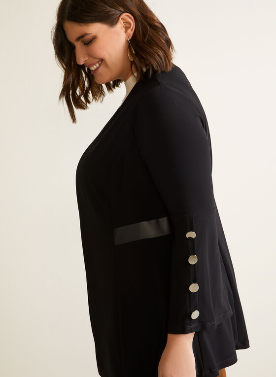 Structured Top With Button Details, Black