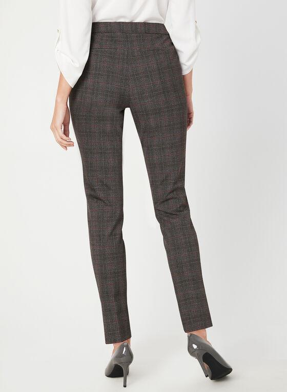Pantalon coupe moderne motif tartan, Gris, hi-res
