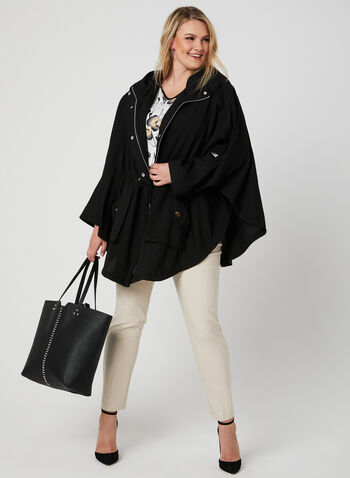 Nikki Jones - Lightweight Cape, Black, hi-res