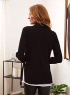 Cowl Neck Fooler Style Sweater, Black