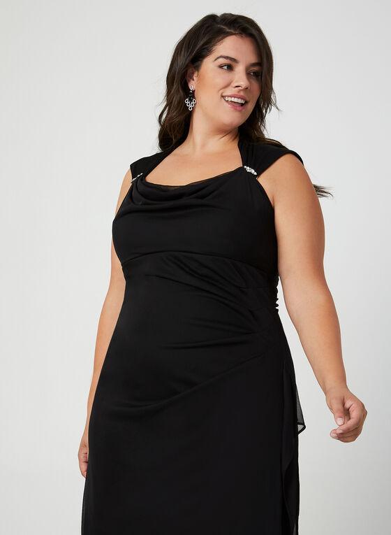 Mesh Evening Dress, Black