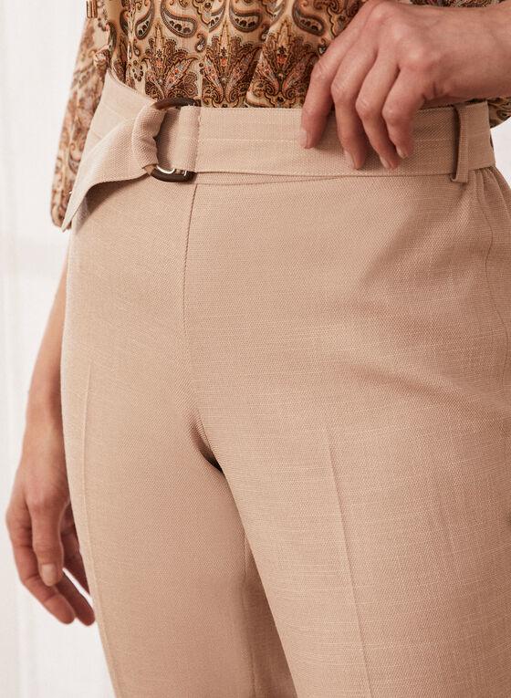 Pantalon jambe droite à enfiler, Beige