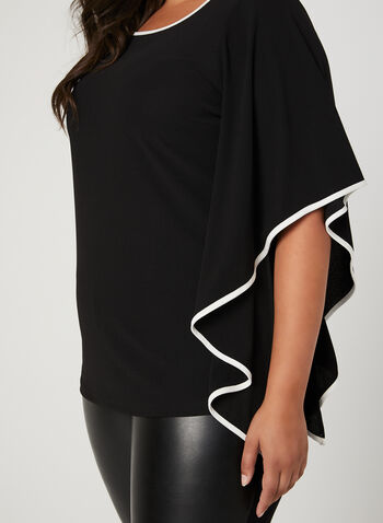 Split Angel Sleeve Blouse, Black, hi-res