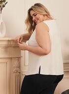 Embellished V-Neck Blouse, Off White