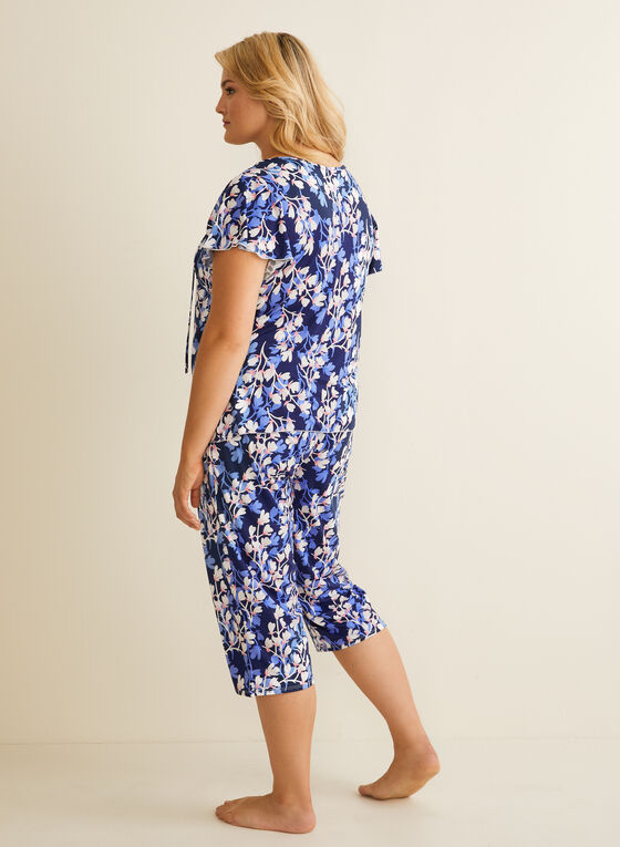 Hamilton - Pyjama 2 pièces motif fleurs, Bleu