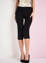 Modern Fit Lace Trim Capris, , hi-res