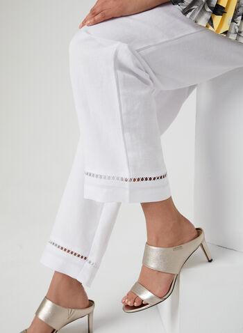 Modern Fit Wide Leg Pants, White, hi-res,  mid rise, contour waist, spring 2019