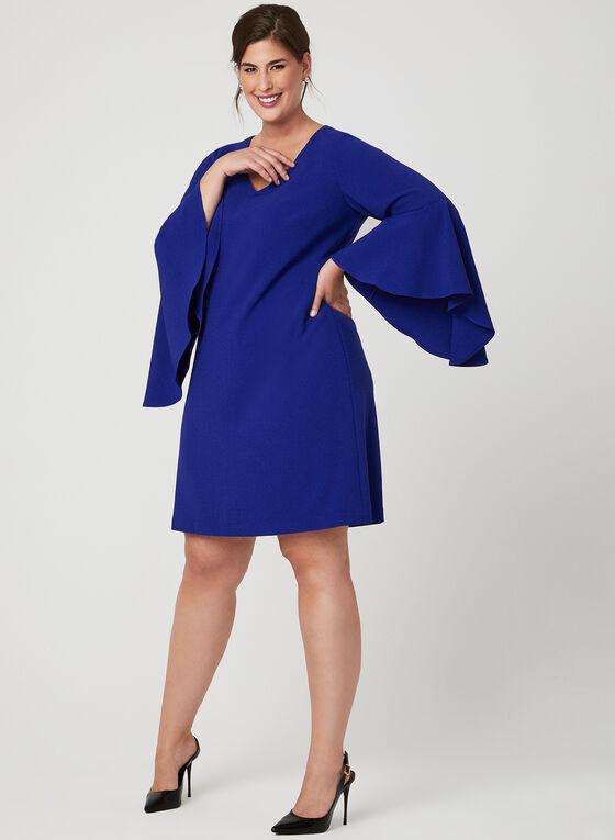Jessica Howard - Robe à manches cloche ajourées , Bleu, hi-res