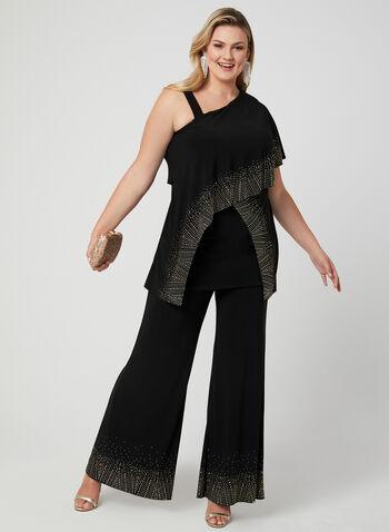 Joseph Ribkoff - Asymmetrical Jersey Tunic, Black, hi-res