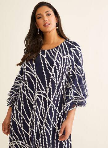 Textured Pearl Print Dress, Blue,  dress, day dress, printed dress, textured, pearl print, spring 2020, summer 2020