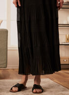 Pull-On Maxi Skirt, Black