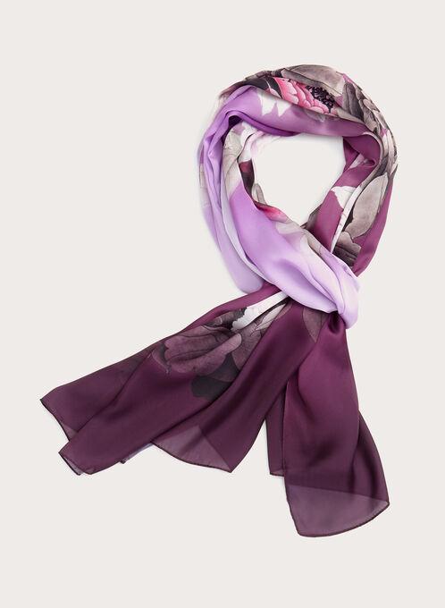 Foulard à motif floral, Pourpre, hi-res