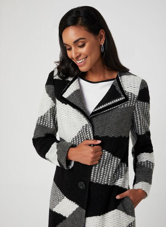 Manteau en patchwork, Noir, hi-res