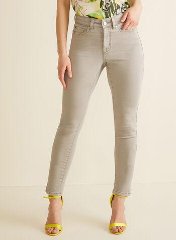 Slit Slim Leg Jeans, Grey,  jeans, slim leg jeans, pants, denim, ankle length, slits, spring 2020, summer 2020