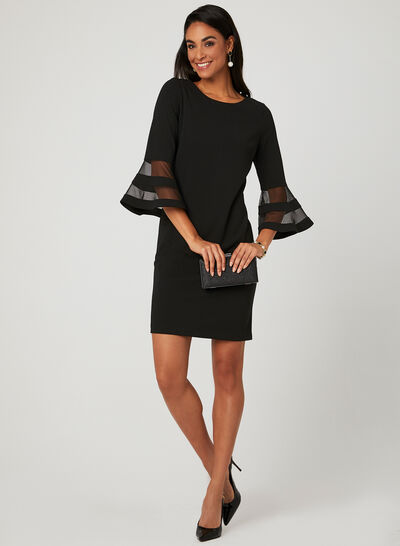 Bell Sleeve Sheath Dress