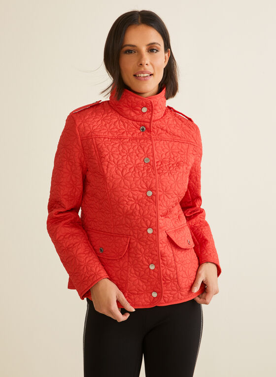 Novelti - Lightweight Quilted Coat, Red