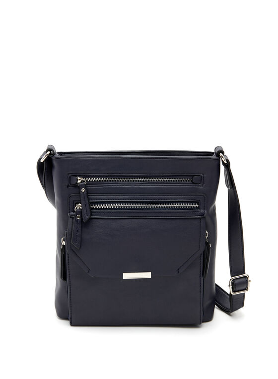 Pocket Detail Crossbody Bag, Blue, hi-res