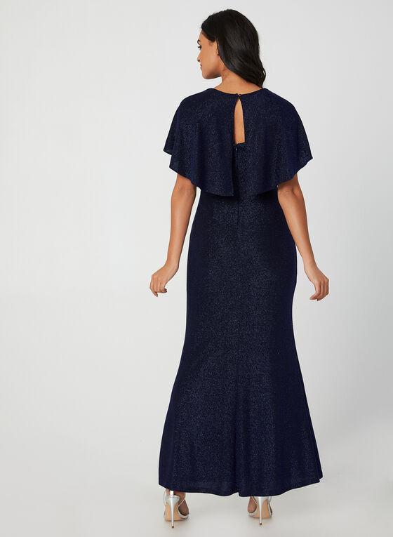 Robe pailletée style cape, Noir