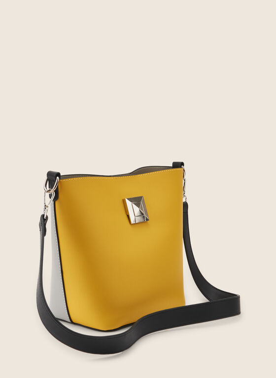 Two-Toned Tote Handbag , Yellow