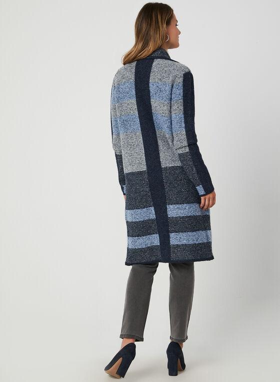 Colour Block Knit Cardigan, Blue