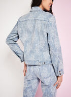 Simon Chang Floral Print Chambray Jean Jacket, Blue, hi-res
