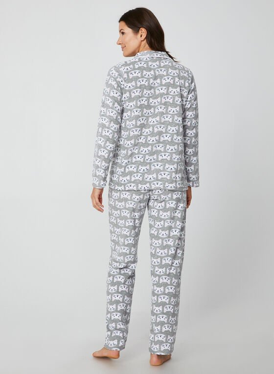 Pillow Talk - Two-Piece Pyjama Set, Grey, hi-res