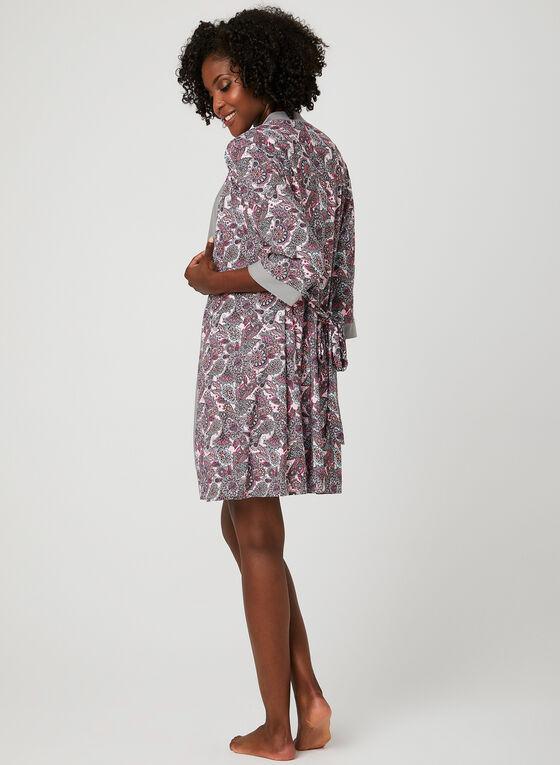 René Rofé - Paisley Print Nightshirt Robe Set, Multi, hi-res
