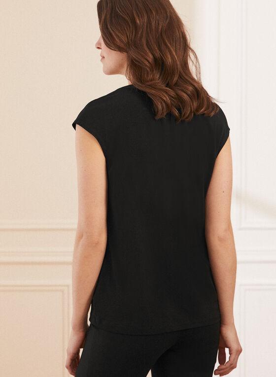 Monochrome V-Neck Top, Black