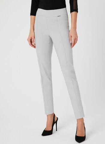 Pantalon coupe moderne à jambe étroite, Gris, hi-res,