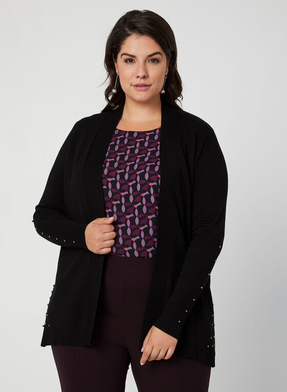 Open Front Cardigan, Black