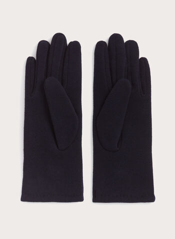 Faux Leather Button Gloves, , hi-res
