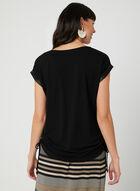 T-shirt à détails satinés, Noir, hi-res