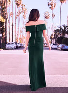 Off-the-Shoulder Gown, Green