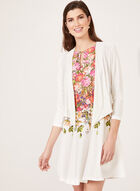 Draped Front Jersey Bolero, Off White, hi-res