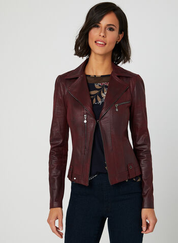 Vex - Faux Suede Jacket, Red, hi-res