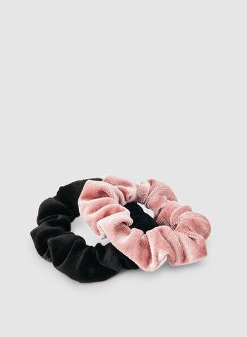 Velvet Scrunchy Set, Pink,  velvet, scrunchy, elastics, holiday, fall 2019, winter 2019